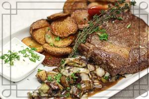 Steak vom Weide-Rind